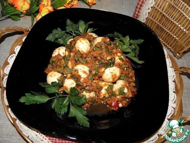 """Закуска из яиц """"Частый гость"""" простой рецепт приготовления с фото пошагово как готовить #8"""