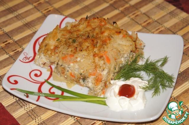 Запеканка из капусты с курицей рецепт