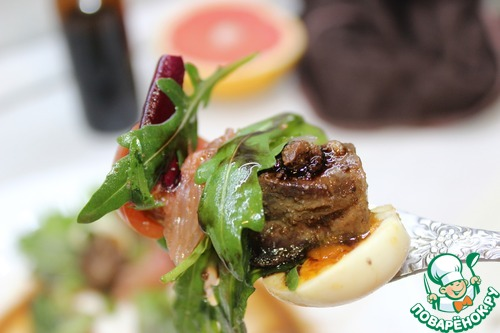 Салат с куриной печенью и грейпфрутом простой рецепт с фото пошагово #12