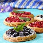 Постное ржаное печенье с ягодами