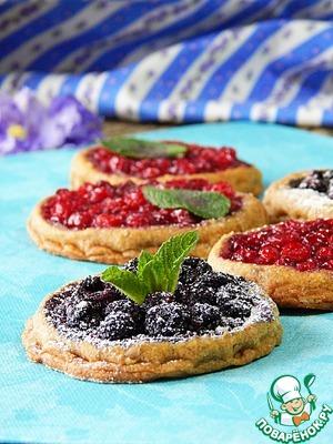 Рецепт Ржаное постное печенье с ягодами
