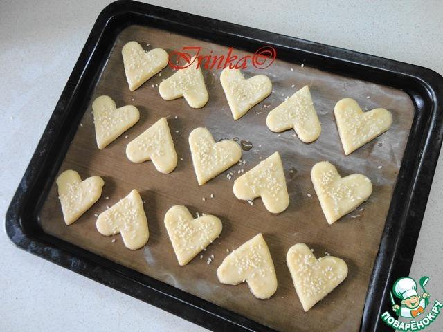 """Как готовить Сырное печенье """"Арабеска"""" домашний рецепт приготовления с фотографиями пошагово #6"""