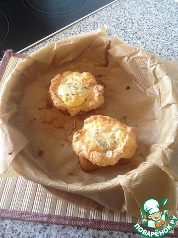 """Яичные гнезда """"Курочка Ряба"""" простой рецепт приготовления с фото пошагово готовим #6"""