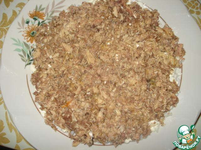 """Готовим Салат """"Ромашковое поле"""" вкусный рецепт с фото #4"""