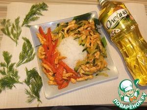 Рецепт Жареные огурцы (или Парад овощей)
