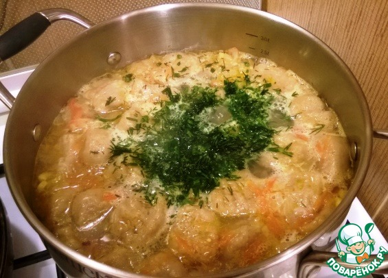 Как готовить Полбяной суп с картофельными клецками вкусный рецепт приготовления с фото #8