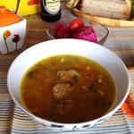 Полбяной суп с картофельными клецками