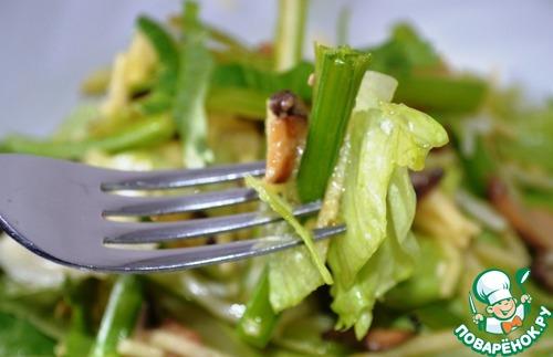 Тёплый салат с сельдереем и яблоком простой рецепт приготовления с фотографиями пошагово как приготовить #13