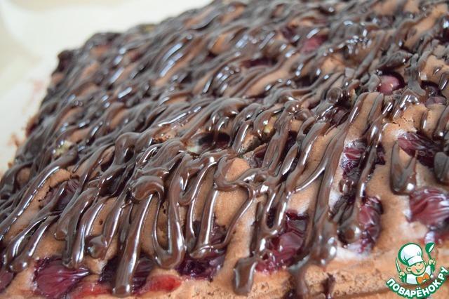 Как приготовить Шоколадно-вишнёвый пирог рецепт приготовления с фото пошагово #11