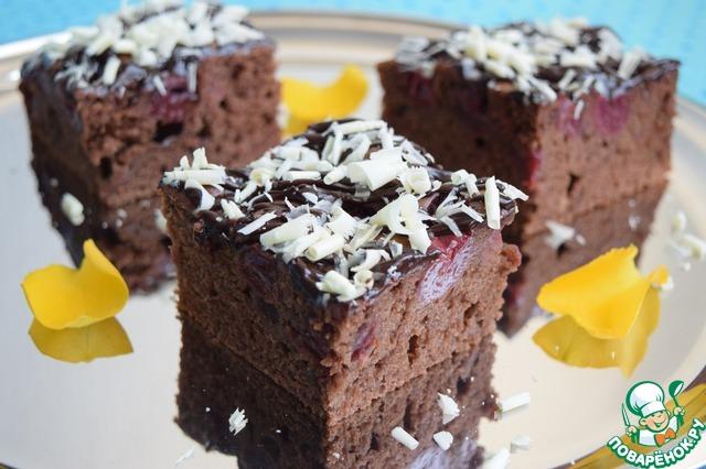 Как приготовить Шоколадно-вишнёвый пирог рецепт приготовления с фото пошагово #14