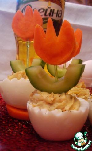 Весенние фаршированные яйца домашний рецепт приготовления с фото пошагово как готовить