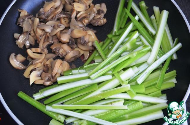 Тёплый салат с сельдереем и яблоком простой рецепт приготовления с фотографиями пошагово как приготовить #5