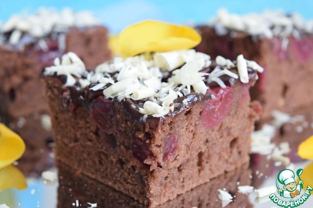 Как приготовить Шоколадно-вишнёвый пирог рецепт приготовления с фото пошагово #16