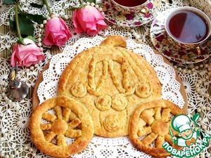 Готовим Фигурный пирог с курагой и корицей