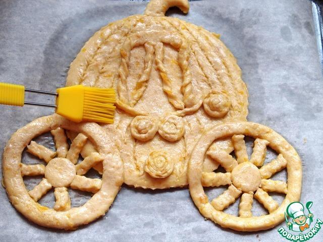 """Готовим Фигурный пирог с курагой и корицей """"Карета"""" домашний рецепт приготовления с фото пошагово #6"""