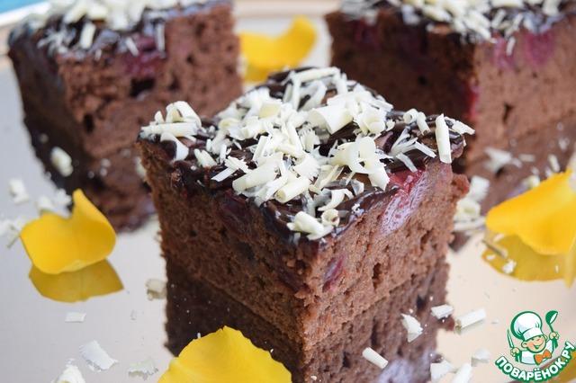Как приготовить Шоколадно-вишнёвый пирог рецепт приготовления с фото пошагово #18