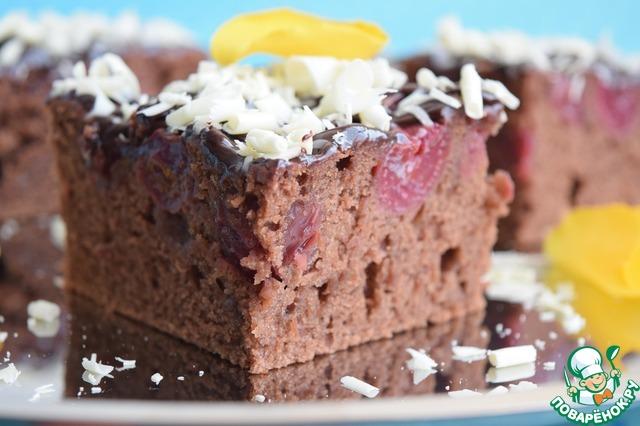 Как приготовить Шоколадно-вишнёвый пирог рецепт приготовления с фото пошагово #19