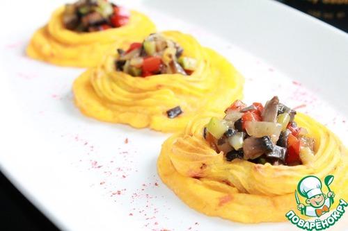 Картофельные тарталетки с овощами рецепт с фото #14