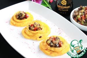 Рецепт Картофельные тарталетки с овощами