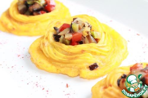 Картофельные тарталетки с овощами рецепт с фото #15