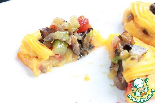 Картофельные тарталетки с овощами рецепт с фото #16