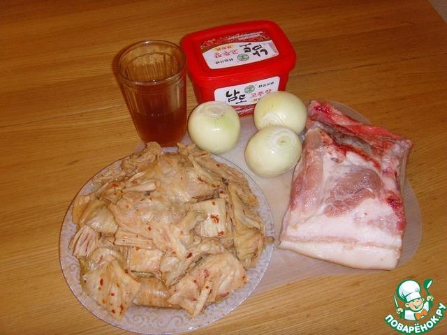 Готовим Свинина, жаренная с чимчи домашний пошаговый рецепт с фотографиями #1