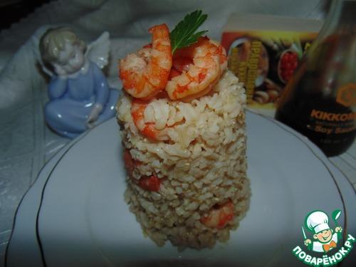 Бурый рис с имбирными креветками простой рецепт приготовления с фото пошагово как приготовить #14