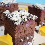 Шоколадно-вишнёвый пирог