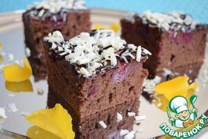 Как приготовить Шоколадно-вишнёвый пирог рецепт приготовления с фото пошагово на Новый Год