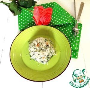 Рецепт Салат с квашеной капустой и сельдереем