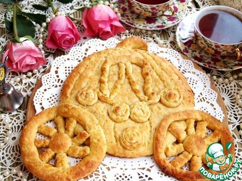 """Готовим Фигурный пирог с курагой и корицей """"Карета"""" домашний рецепт приготовления с фото пошагово #7"""