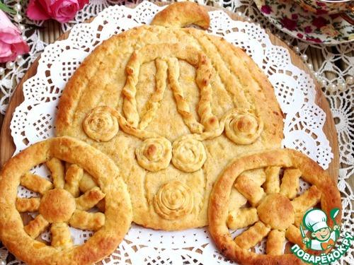 """Готовим Фигурный пирог с курагой и корицей """"Карета"""" домашний рецепт приготовления с фото пошагово #8"""
