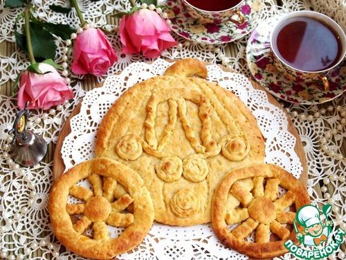 """Готовим Фигурный пирог с курагой и корицей """"Карета"""" домашний рецепт приготовления с фото пошагово #9"""