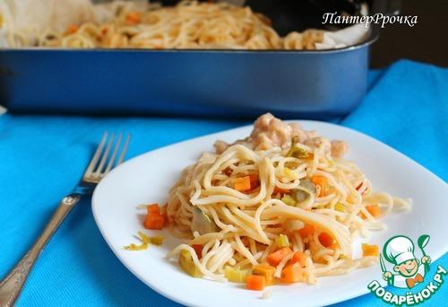 Как готовить Спагетти в пергаменте с овощами домашний рецепт с фотографиями пошагово #7
