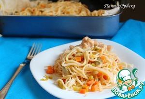 Как готовить Спагетти в пергаменте с овощами домашний рецепт с фотографиями пошагово