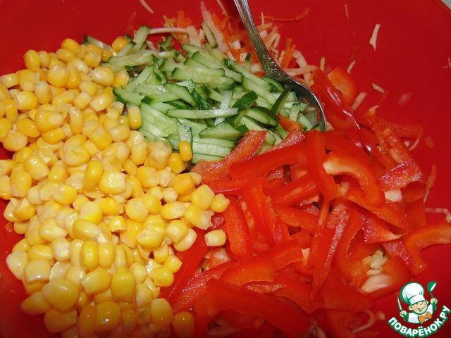 Кисло-сладкий капустный салат вкусный рецепт приготовления с фото пошагово как приготовить #8
