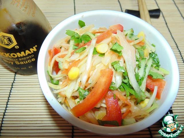 Кисло-сладкий капустный салат вкусный рецепт приготовления с фото пошагово как приготовить #11