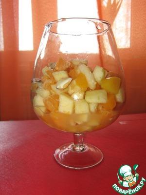 Готовим Фруктово-ореховый салат домашний рецепт с фотографиями