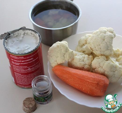 Суп-пюре из цветной капусты вкусный пошаговый рецепт приготовления с фото #1
