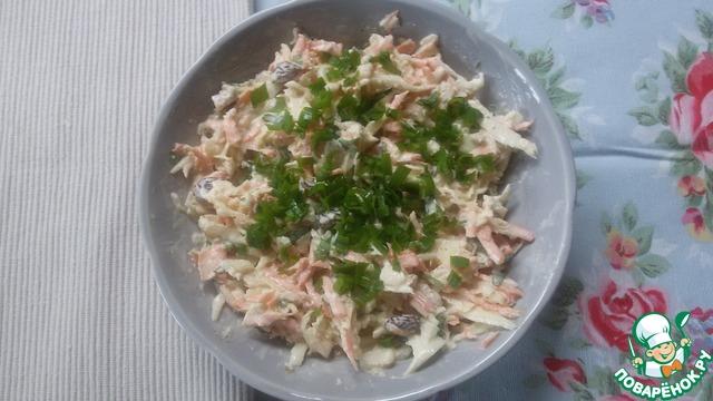 """Как приготовить домашний рецепт приготовления с фото Капустный салат """"Луизианский Кейдженс"""" #5"""