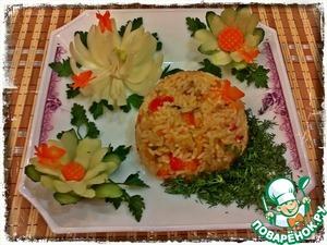 Ризотто с курицей и овощами рецепт с фотографиями пошагово