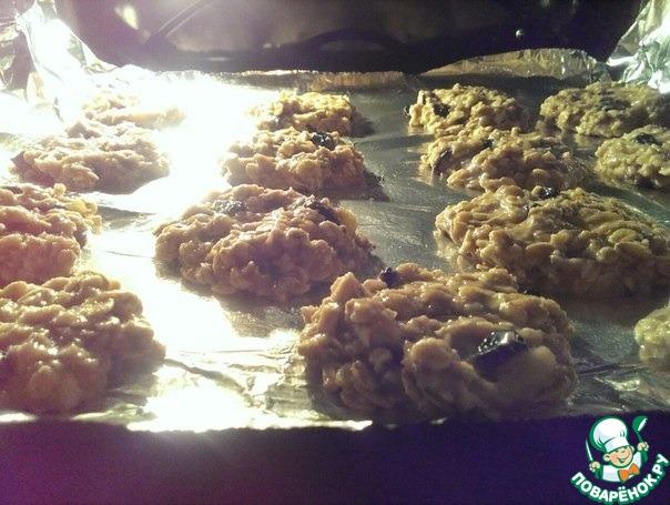 Как приготовить рецепт приготовления с фотографиями Овсяно-банановое печенье #3