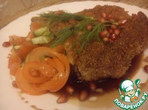Рецепт Свиная отбивная на косточке с соусом наршараб