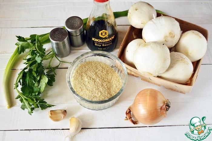 Как приготовить простой рецепт приготовления с фото Фаршированные шампиньоны с хлебными крошками #1