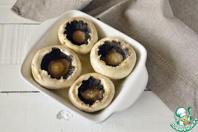 Как приготовить простой рецепт приготовления с фото Фаршированные шампиньоны с хлебными крошками #2
