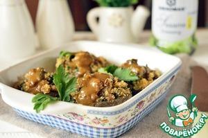 Как готовить Фаршированные шампиньоны с хлебными крошками вкусный рецепт с фото