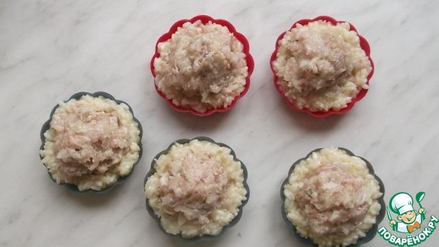 Рисовые корзиночки с курицей и сыром домашний рецепт с фото пошагово как приготовить #3