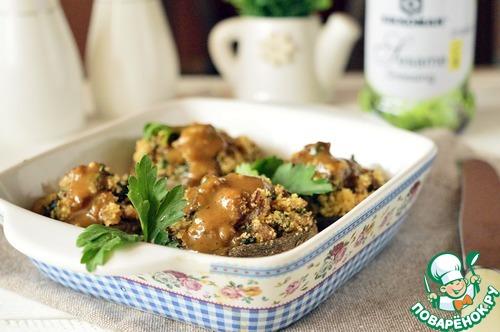 Как приготовить простой рецепт приготовления с фото Фаршированные шампиньоны с хлебными крошками #7