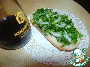 Рецепт Бутерброд с петрушкой