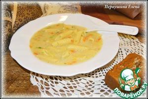 Рецепт Молочный картофельный суп с макаронами